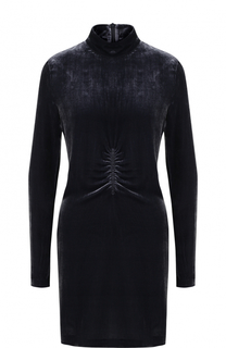 Бархатное мини-платье с длинным рукавом MCQ