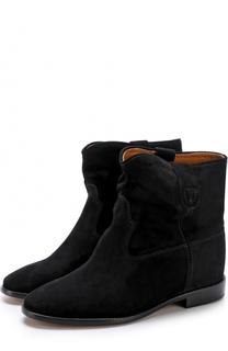 Замшевые ботинки с широким голенищем Isabel Marant