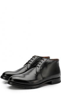Кожаные ботинки на шнуровке W.Gibbs