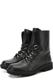 Кожаные ботинки на молнии со шнуровкой Dolce & Gabbana