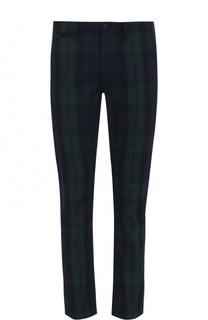 Хлопковые брюки в клетку Polo Ralph Lauren