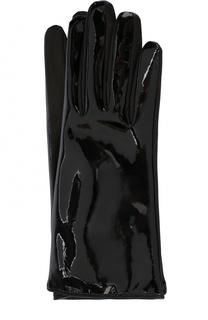 Кожаные перчатки с лакированной отделкой Alessandra Rich