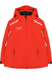 Куртка с контрастной отделкой и капюшоном Ea 7