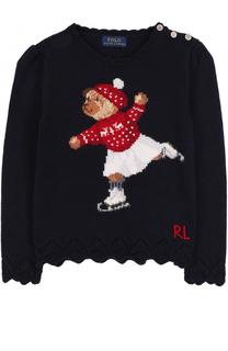 Пуловер с фигурной отделкой и принтом Polo Ralph Lauren