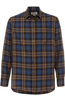 Рубашка в клетку из смеси хлопка и вискозы Gucci
