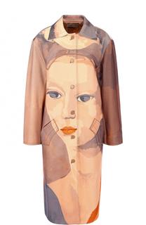 Пальто свободного кроя с принтом Nina Ricci