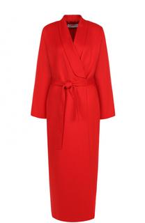 Удлиненное однотонное пальто с поясом Givenchy