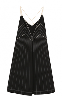 Шелковое платье-миди с V-образным вырезом Valentino