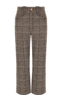 Укороченные расклешенные брюки в клетку Marc Jacobs