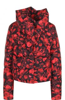 Пуховая куртка с воротником и принтом Givenchy