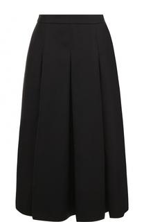 Однотонная юбка-миди со складками Escada