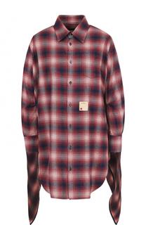 Хлопковая блуза свободного кроя с удлиненной спинкой Dsquared2