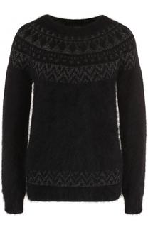 Шерстяной пуловер с круглым вырезом Escada
