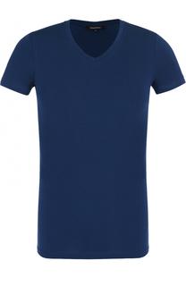 Хлопковая футболка с V-образным вырезом Ermenegildo Zegna