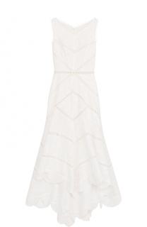 Приталенное кружевное платье-миди Zimmermann