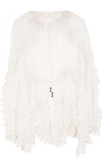 Прозрачная шелковая блуза свободного кроя Zimmermann