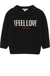 Пуловер из хлопка с принтом Givenchy