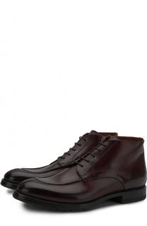 Кожаные ботинки на шнуровке с молнией W.Gibbs