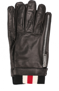 Кожаные перчатки с шерстяной подкладкой Dsquared2