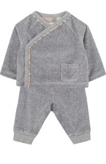 Хлопковый комплект из брюк и распашонки Burberry