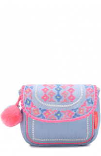 Текстильная сумка с вышивкой и помпонами Sunuva