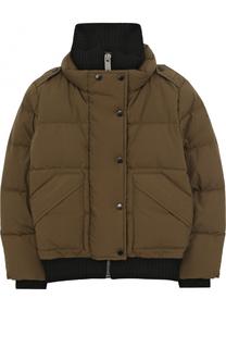 Пуховая куртка с воротником-стойкой Burberry