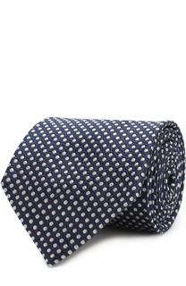 Шелковый галстук в горох Giorgio Armani