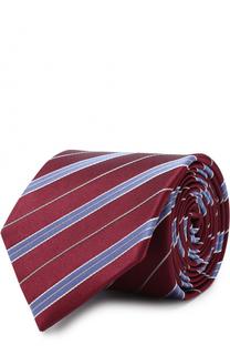 Шелковый галстук в полоску Eton