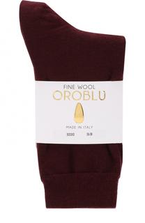 Однотонные шерстяные носки Oroblu