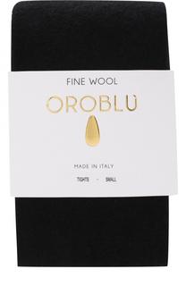 Однотонные колготки из смеси шерсти и хлопка Oroblu