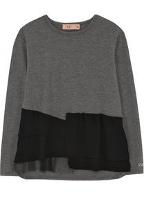 Блуза с декоративными оборками No. 21