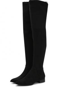 Текстильные ботфорты Tyra на низком каблуке DKNY