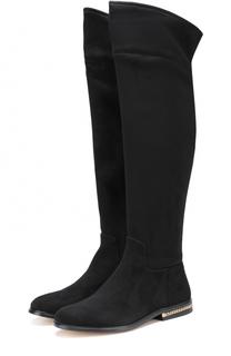 Замшевые ботфорты Jamie на декорированном каблуке MICHAEL Michael Kors