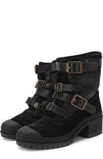 Комбинированные ботинки с ремешками Burberry