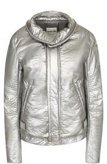 Однотонная куртка на молнии с отложным воротником Helmut Lang
