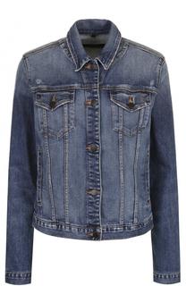 Джинсовая куртка прямого кроя с потертостями J Brand