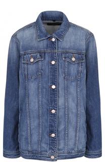 Удлиненная джинсовая куртка с потертостями J Brand