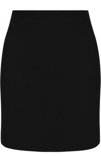 Однотонная шерстяная мини-юбка Alessandra Rich
