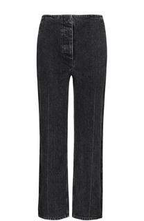 Укороченные джинсы прямого кроя с потертостями The Row