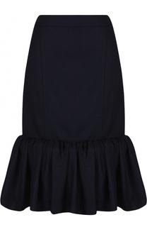 Шерстяная юбка-миди с оборкой Jacquemus