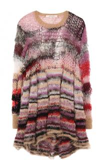 Приталенное мини-платье с длинным рукавом Rodarte