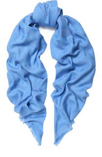 Шарф из смеси хлопка и модала с необработанным краем BOSS