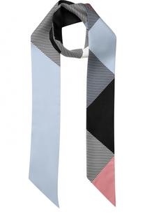 Шелковый шарф-бандо с геометрическим принтом Burberry