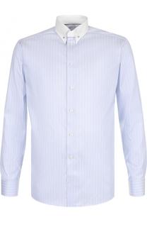Хлопковая сорочка с булавкой на воротнике Eton