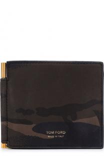 Кожаный зажим для денег с отделениями для кредитных карт Tom Ford