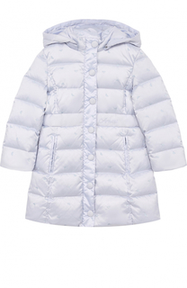 Пуховое пальто с капюшоном Armani Junior