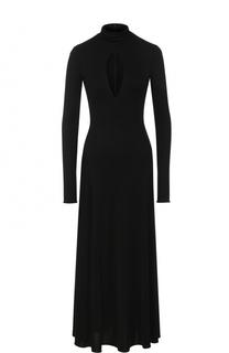 Приталенное платье-миди с длинным рукавом Emilio Pucci