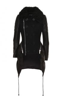 Приталенная куртка с косой молнией и пуховыми вставками Dsquared2