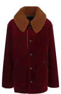 Укороченное вельветовое пальто с отложным воротником Marc Jacobs