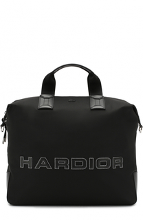 Текстильная дорожная сумка с кожаной отделкой Dior